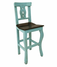 Cantina Rustic Bar Stool Turquoise