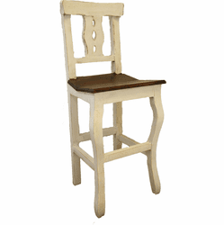 Cantina Rustic Bar Stool White