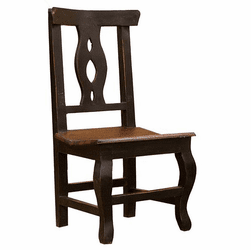 Cantina Rustic Black Chair