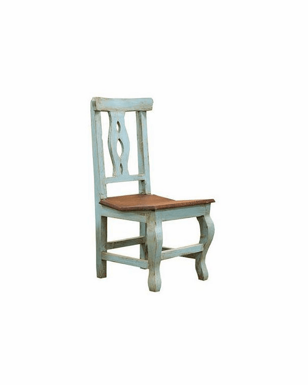 Cantina Rustic Turquoise Chair