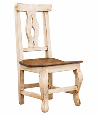 Cantina Rustic White Chair