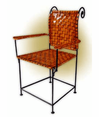 Collectanea Strap Leather Arm Chair