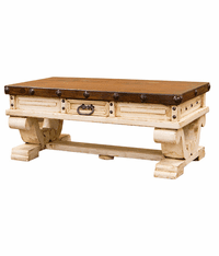 Colonial White Rustic Coffee Table