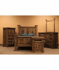 Colorado Rustic Rough Cut Bedroom Set