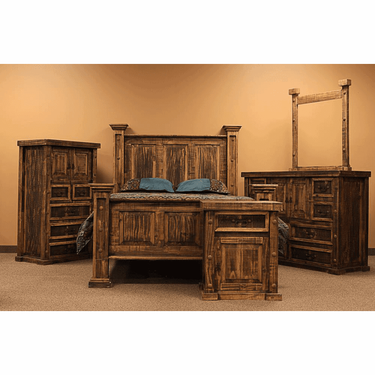Rustic Bedroom Set, Rustic Pine Bedroom Set, Rustic Bed Set