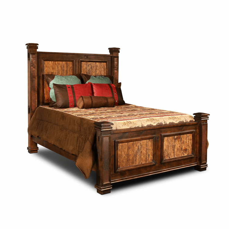Copper Canyon Rustic Bed Frame King