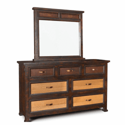 Copper Canyon Rustic Dresser & Mirror