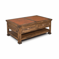 Copper Vista Rectangular Coffee Table