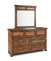 Copper Vista Rustic Dresser