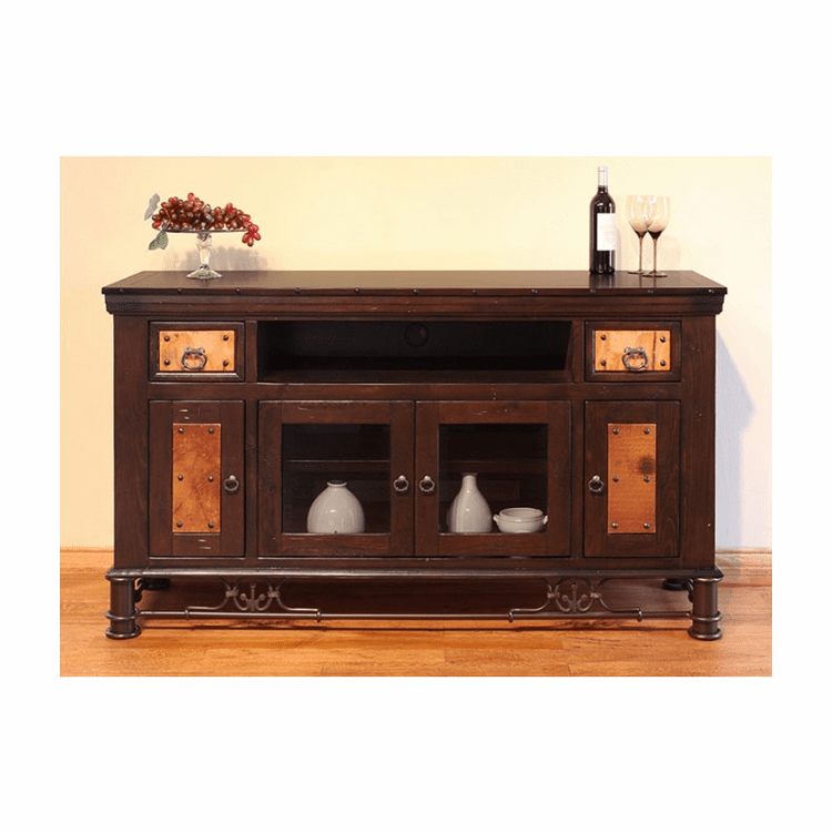 "Cordoba Copper 63"" TV Stand W/ 2 Drawers"
