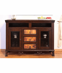 "Cordoba Copper 63"" TV Stand W/ 3 Drawers"