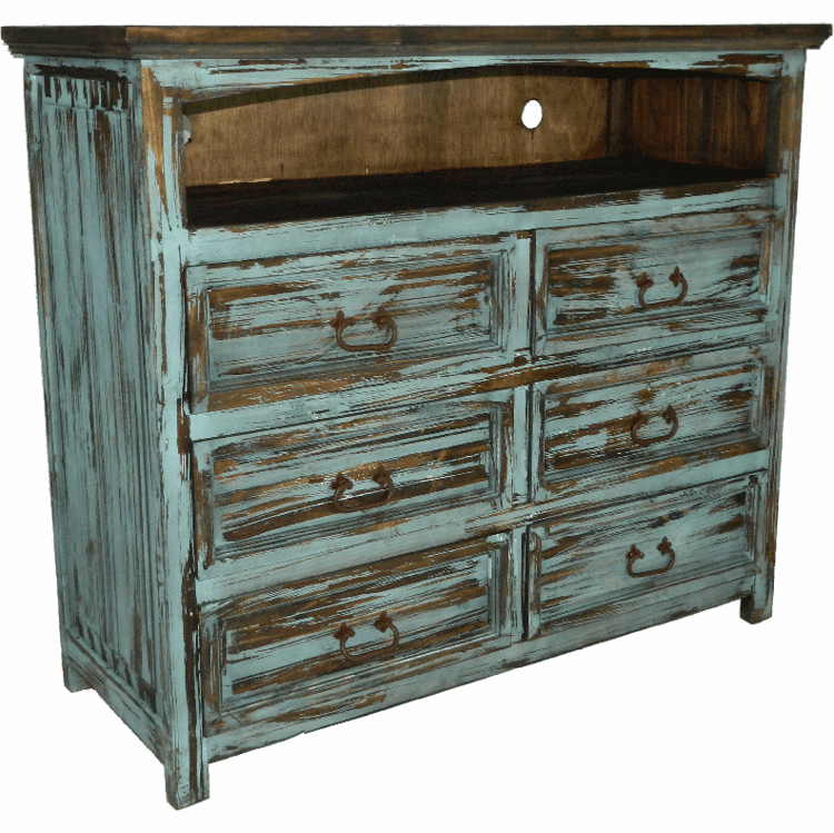 Rustic Bedroom Tv Chest Stand Media