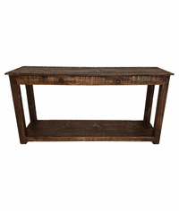 "Corona Rustic Distressed Wood Console Table 60""L"