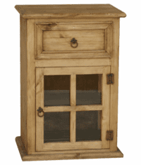 Corona Rustic Pine Wood Night Stand R