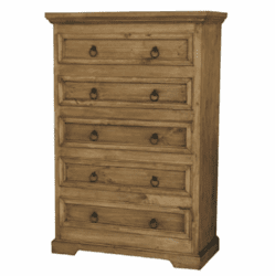 Corona Rustic Pine Wood Tall Chest