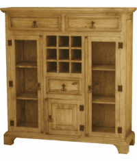 Corona Rustic Wood Bar