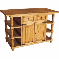 Corona Wood Rustic Kitchen Island