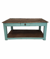 Corona Wood Turquoise Coffee Table