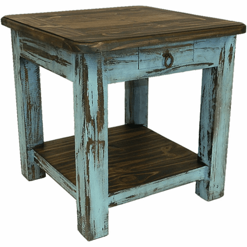 hot sale online 4f642 2a559 Rustic Antique Turquoise End Table, Turquoise End or SideTable