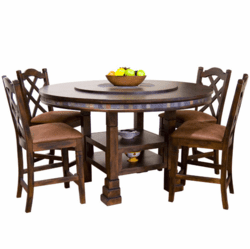 Durango Round Gathering Table Set W/ 8 Bar Stools