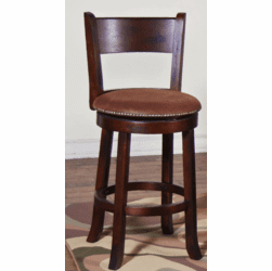 Durango Round Swivel Barstool With Back