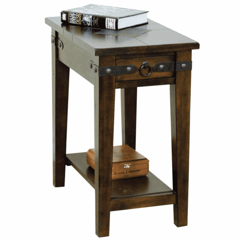 Durango Slate Top Chairside End table