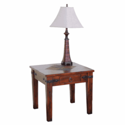 Durango Slate Top End Table