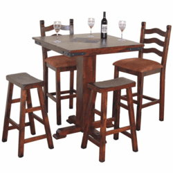 Durango Square Slate Top Pub Table Set