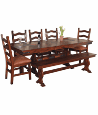 Durango Trestle Dining Table Set