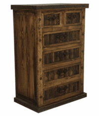 El Paso Rustic 6 Drawer Chest W/ Iron