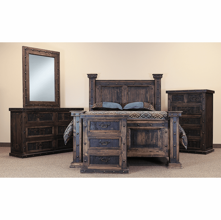 Rustic Bedroom Set, Rustic Bedroom Furniture Set, Wood Bedroom Set