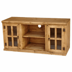 El Paso Rustic Pine Wood TV Console w/ Shelf