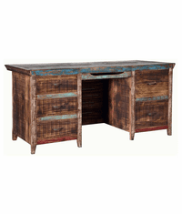 Fiesta Rustic Multi-Color Executive Desk