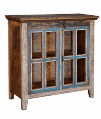Fiesta Rustic Multi-Color Small Curio Cabinet 36""