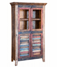 Fiesta Rustic Multi-Color Storage Cabinet