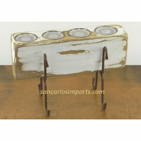 Four Hole Sugar Mold Candle Holder White