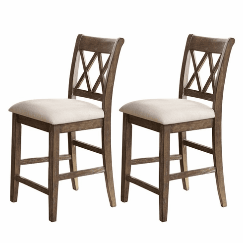 Francisco Rustic Counter Chairs Set of 2