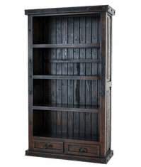 Granada Rustic 2 Drawer Bookcase