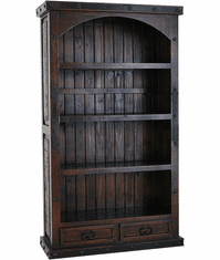 Granada Rustic 2 Drawer Bookcase Boveda