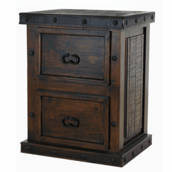 Granada Rustic 2 Drawer File Cabinet