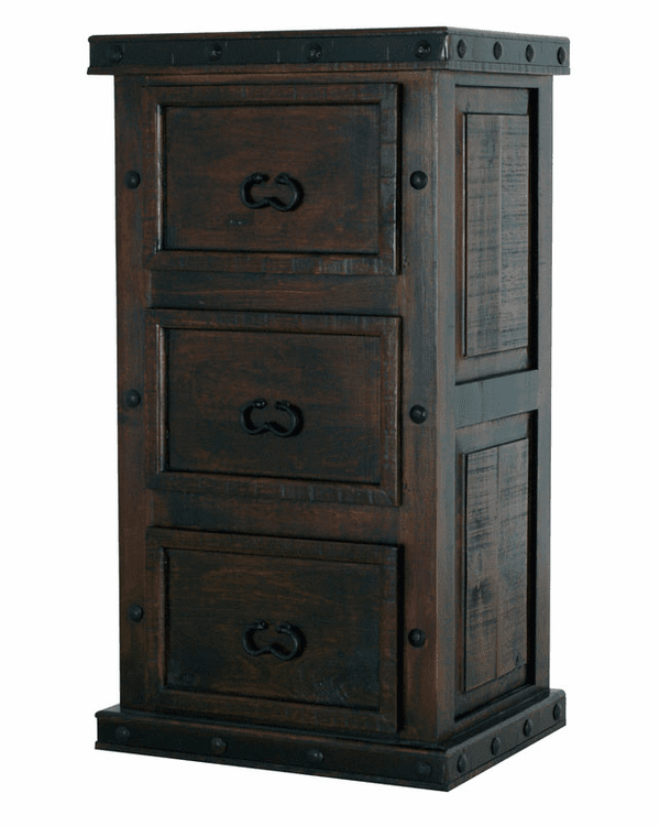 Granada Rustic 3 Drawer File Cabinet
