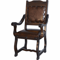 Granada Rustic Leather Dining Arm Chair