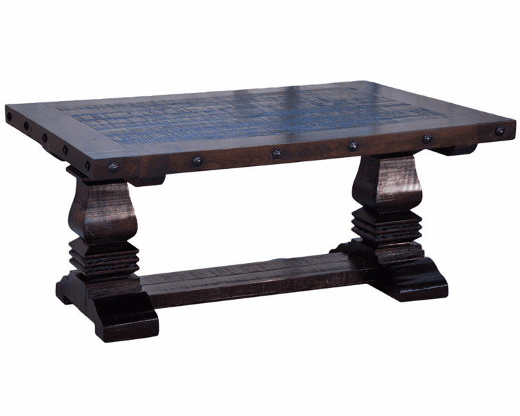 Granada Rustic Pedestal Coffee Table