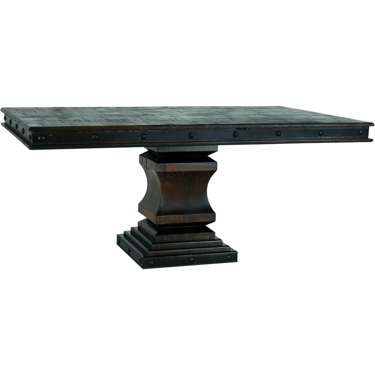 Granada Rustic Pedestal Dining Table