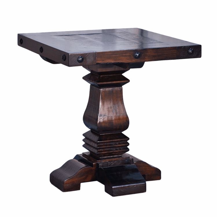 Granada Rustic Pedestal End Table