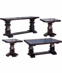 Granada Rustic Pedestal Occasional Table Set