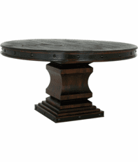 Granada Rustic Pedestal Round Dining Table
