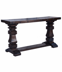 Granada Rustic Pedestal Sofa Table