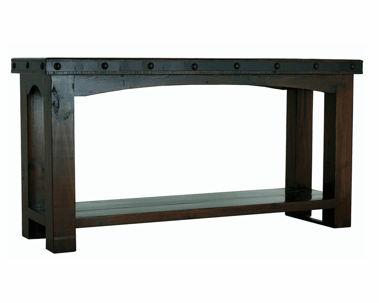 Granada Rustic Sofa Table W/ Shelf