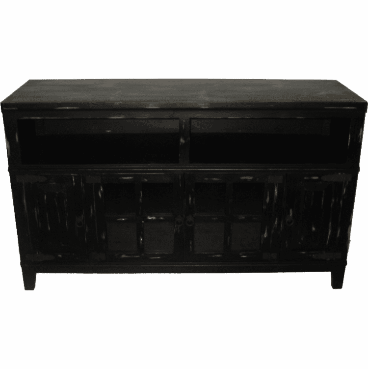 "Hacienda 60"" Rustic Antique Black PlasmaTV Stand"
